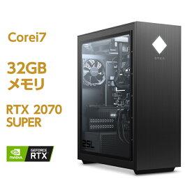 RTX 2070 SUPER Core i7 HyperX FURY DDR4 メモリ 32GB 512GB SSD PCIe規格 + 2TB HDD OMEN by HP 25L Desktop (型番:140C5AA-AAAQ) eスポーツ ゲーミング ゲーミングPC ゲーミングパソコン クリエイター デスクトップパソコン Office付き 新品