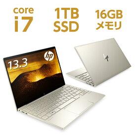 Core i7 16GBメモリ 1TB SSD PCIe規格 13.3型 UHD 4K IPSタッチ HP ENVY 13-ba1000 (型番:2L3T0PA-AAAA) ノートパソコン オフィス付き 新品 NVIDIA GeForce MX450