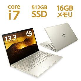 Core i7 16GBメモリ 512GB SSD PCIe規格 13.3型 フルHD IPSタッチ HP ENVY 13-ba1000 (型番:2L3S9PA-AAAB) ノートパソコン オフィス付き 新品 NVIDIA GeForce MX450