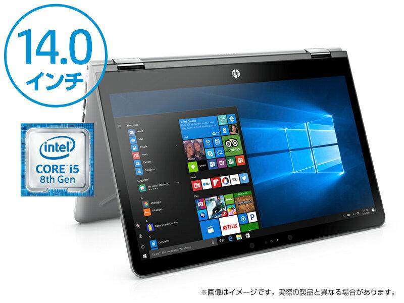 【SALE中エントリーでポイント最大15倍】 Core i5 12GBメモリ 256GB SSD 360度回転 14.0インチ タッチ液晶 HP Pavilion x360 14 (型番:3DB14PA-AABE) Office付き 新品