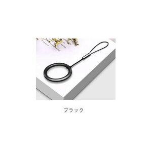 ブラック&レッド セット リングストラップ スマホリング スマホ リング ストラップ スマホストラップ 指輪 チタン キーホルダー ケース ネック x