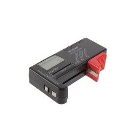 電池 測定 乾電池 ボタン電池 バッテリーテスター バッテリーチェッカー バッテリーチェック 電池残量測定器 ブラック