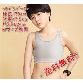 ナベシャツ 胸つぶし トラシャツ サイズ M アニメ コスプレ 男装 灰色 グレー