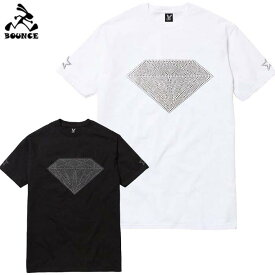 【送料無料】 BOUNCE バウンス Diamond ダイヤモンド ラインストーンロゴ 半袖 綿100% メンズTシャツ トップス かっこいい おしゃれ 人気 ブランド 大きい ビッグサイズ ストリート系 ITALY ★DISCO-J★