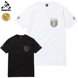 【送料無料】 BOUNCE バウンス ITALY MARK イタリア ラインストーンロゴ PREMIUM 半袖 メンズTシャツ トップス かっこいい おしゃれ 人気 ブランド 大きい ビッグサイズ ストリート系 ITALY ★DISCO-J★