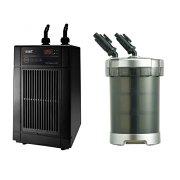 「GEXクールウェイBK110」と「GEXメガパワー6090」のお得セット水槽用クーラーと水槽用外部フィルター