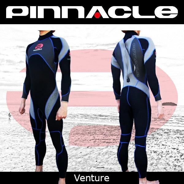 【期間限定特価!全国送料無料!】[男性用]PINNACLE[ピナクル]3mmウェットスーツ[ベンチャー]チタンコーティング仕様[フルスーツ]Pinnacle aquatics