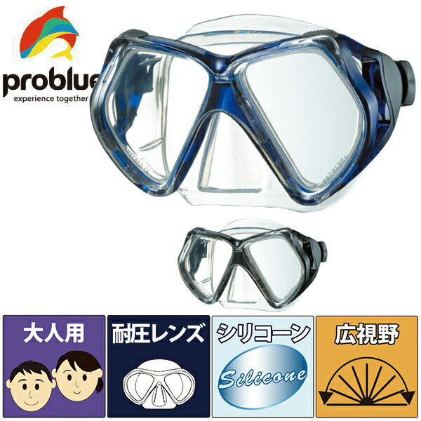 【在庫処分特価!全国送料無料!】PROBLUE[プロブルー]ボーグ[MS-284]シリコン2眼マスク【ポッキリ】