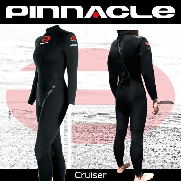 【期間限定特価!全国送料無料!】[女性用]PINNACLE[ピナクル]5mmウェットスーツ足首ファスナー付CRUISER[クルーザー]ウエットスーツ[フルスーツ]Pinnacle aquatics