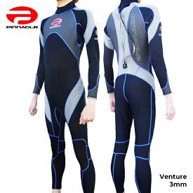 【2019年モデル!あす楽!全国送料無料!】男性用 Pinnacle ピナクル 3mmウェットスーツ ベンチャー チタンコーティング PINNACLE ウエットスーツ メンズ フルスーツ Pinnacle aquatics