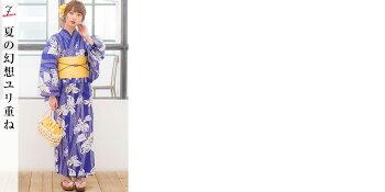 浴衣セットレディースレトロ安い大人浴衣セット1人で簡単に着れる♪(ゆかた・作り帯・下駄)豪華浴衣3点セット【送料0円】【あす楽対応】レトロモダン可愛い綺麗即納2016年桜朝顔撫子トンボ水玉