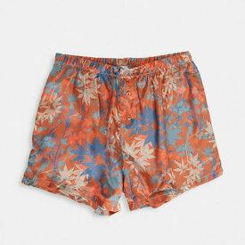 エイソス ASOS asos ASOSDESIGN織りサテンボクサーショートオレンジアブストラクトフローラル 下着 メンズ 男性 インポートブランド 小さいサイズから大きいサイズまで