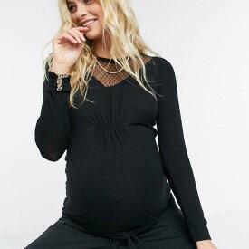 黒のルーチフロントのMamaliciousマタニティトップ 妊婦さん レディース 女性 インポートブランド 小さいサイズから大きいサイズまで 20代 30代 40代 50代