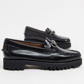 ジーエイチバス G.H. Bass GHバスウィージュン90リアナスナッフルフラットフォームローファーブラック 靴 レディース 女性 インポートブランド 小さいサイズから大きいサイズまで
