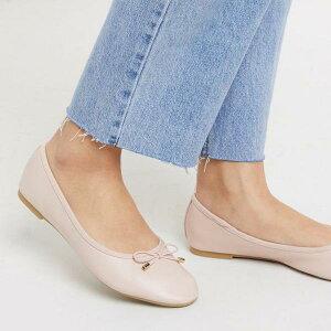 アクセサライズ Accessorize ピンクのボウバレエフラットをアクセサリー化 靴 レディース 女性 インポートブランド 小さいサイズから大きいサイズまで