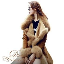 フェイクファーコート ムートンコート ファーコート フェイクファー トレンチ 毛皮 ジャケット ワンピースやドレスの上からでも可愛い レディース 秋冬 ベージュ ブラウン M L XL XXL スレンダー カジュアル 体型カバー 大きいサイズ 袖あり 袖付き