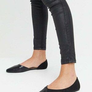 アクセサライズ Accessorize ドルセーバレエシューズをブラッククロコミックスでアクセサリー化 靴 レディース 女性 インポートブランド 小さいサイズから大きいサイズまで 20代 30代 40代 50代