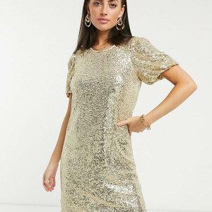 ホイッスルズ Whistles シャンパンの笛スパンコールシフトドレス ワンピース レディース 女性 インポートブランド 小さいサイズから大きいサイズまで