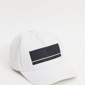 ヒューゴボス BOSS hugoboss HUGO BOSS 白/黒のパネルロゴが付いたBOSS野球帽 帽子 メンズ 男性 インポートブランド