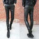 20代 30代 40代 ファッション コーディネート ブラック XS S M L XXL オシャレ トレンド レザーパンツ スキニー ジーンズ ソリッドカラー インポート スキニー レザー メンズ パ