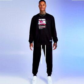 boohoo(ブーフー)メンズ トラックスーツ セットアップ フーディー スウェットパンツ スキニー プルオーバー パーカー ジョガー スウェット インポート 大きいサイズ 20代 30代 40代 カジュアル トレンド 流行 アウトフィット ブランド セットアップ ジャージ