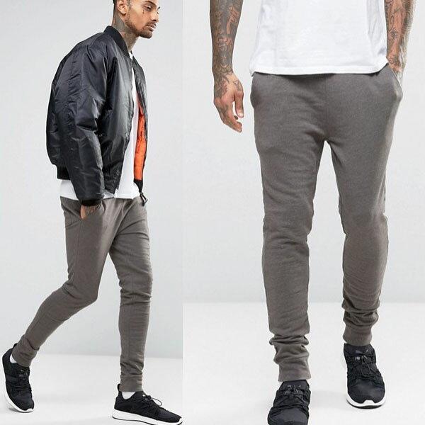 ASOS/スーパースキニージョガーズ/スーパースキニー //ジョガーズ/チャコール/スウェット/パンツ/大きいサイズ/スエット/ジャージ 20代 30代 40代 ファッション コーディネート オシャレ カジュアル
