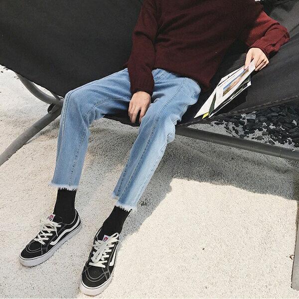 メンズ ジーンズ バギーパンツ フレイドヘム ストレートジーンズ デニム ハーレムパンツ ボトム カジュアル メンズ ロングパンツ トレンド 20代 30代 40代 ファ ッション コーディネート オシャレ カジュアル インポート 大きいサイズ DIVAセレクト