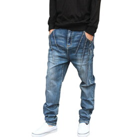 サルエル デニムジョガー ジョガーデニム メンズ レディース ユニセックス サルエル スリム 細身 20代 30代 40代 ファッション コーディネート ブルー オシャレ トレンド カジュアル ジーンズ ジョガーパンツ ハーレムパンツ