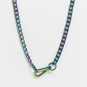 カラビナ留めの虹色の珍しい魂のネックチェーン アクセサリー メンズ 男性 インポートブランド