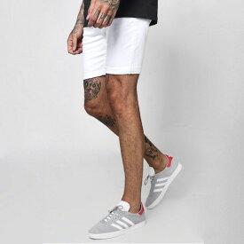 boohoo(ブーフー)スリムフィット ショートデニム デニムショーツ ハーフデニム ストレッチ デニム メンズ ジーンズ メンズ ショートパンツ 大きいサイズ カジュアル トレンド 流行 インポート 男