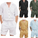 オーバーオール メンズ無地 オールインワン シャツ シンプル オーバーオール ジャンプスーツ メンズ サロペット ショートパンツ 長袖 …
