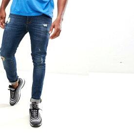 送料無料キャンペーン ASOS メンズ ボトム メンズ デニム ズボン パンツ/スーパーストレッチデニム 大きいサイズ インポート エクストリームスーパースキニーフィット スウェットパンツ ジーンズ ジーパン 20代 30代 40代 ファッション コーディネート 小さいサイズあり