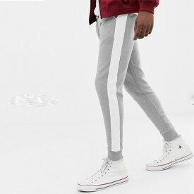 asos ASOS エイソス メンズ スキニージョガーパンツ ジョガー スキニーフィットサイドストライプ スウェットパンツ スウェット ボトム ストレッチ トレンド 大きいサイズ インポート カジュアル 20代 30代 40代 50代 お洒落 ファッション コーデ 小さいサイズあり