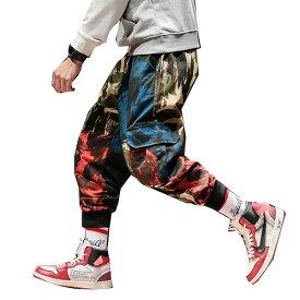 迷彩 カモフラ メンズ ハーレムパンツ ジョギングパンツ ルーズフィット ズボン ジョガーパンツ スウェットパンツ スエットパンツ ズボン ボトム 大きいサイズあり 20代 30代 40代 50代 お洒落 edm hiphop フェス divacloset