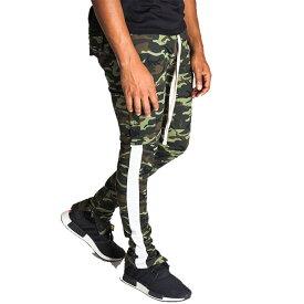 LA発!KDNK(ケーディーエヌケー)ジョガーパンツ スウェットパンツ 迷彩 カモフラ柄 サイドライン メンズ パンツ 日本未入荷 インポートブランド 20代 30代 40代 ジョガーパンツ edm フェス