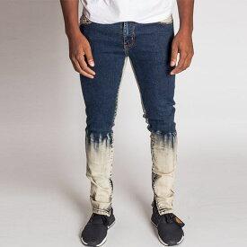 LA発!KDNK(ケーディーエヌケー)グラデーション デニムジーンズ ブリーチ デニム メンズ パンツ 日本未入荷 インポートブランド 20代 30代 40代 ジョガーパンツ edm フェス ジッパー付き 男性 大きいサイズあり