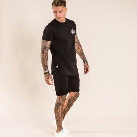 Bee Inspired Clothing(ビーインスパイアードクロージング) メンズ Tシャツ ショートパンツ セットアップ 上下セット パンツ トップス 半袖 パンツ トラックスーツ 刺繍 ロゴ 日本未入荷 インポートブランド 20代 30代 40代 ジョガーパンツ フェス 小さいサイズあり 高身長