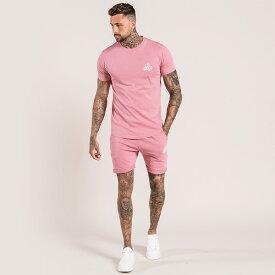 Bee Inspired Clothing(ビーインスパイアードクロージング) メンズ Tシャツ ショートパンツ セットアップ 上下セット パ・塔c トップス 半袖 パンツ トラックスーツ 刺繍 ロゴ 日本未入荷 インポートブランド 20代 30代 40代 ジョガーパンツ フェス 小さいサイズあり