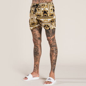 Bee Inspired Clothing(ビーインスパイアードクロージング) バロック柄 ショートパンツ ハーフ パンツ トラックスーツ 日本未入荷 インポートブランド 20代 30代 40代 ジョガーパンツ フェス 小さいサイズあり 高身長 京都のセレクトショップdivacloset