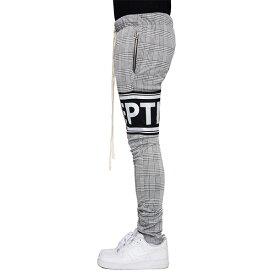 LA発【EPTM(エピトミ)】チェック ロゴ ジョガーパンツ スウェットパンツ スウェット スキニー ジムウェア フィットネスウェア スリム ファスナー 日本未入荷 インポートブランド パンツ 20代 30代 40代 メンズ ユニセックス ファッション コーディネート