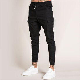 Bee Inspired Clothing(ビーインスパイアードクロージング) black カーゴパンツ メンズ 日本未入荷 インポートブランド ジーンズ メンズ スリム パンツ スリムデニム フェス 高身長