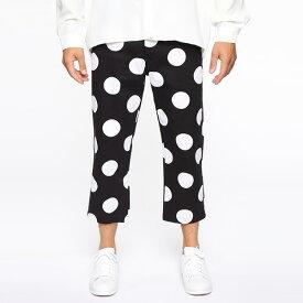 LA発!FASHION NOVA(ファッションノバ) インポートブランド メンズ ドット柄 テーパードパンツ アンクルパンツ 20代30代40代 日本未入荷 大きいサイズあり 流行 最新 メンズカジュアル edm フェス ファッション