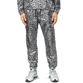LA発!FASHION NOVA(ファッションノバ) インポートブランド メンズ メタリック レオパード柄 シルバー スウェットパンツ ジョガーパンツ 20代30代40代 日本未入荷 大きいサイズあり 流行 最新 メンズカジュアル edm フェス ファッション