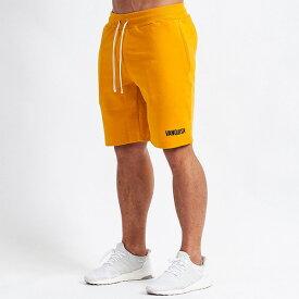 UK発 VANQUISH FITNESS(ヴァンキッシュフィットネス) イエローハーフスウェットパンツ スキニー メンズ スキニー ジョガー 大きいサイズ インポート ヴァンキッシュ vanquish fitness ヴァンキッシュフィットネス スポーツウェア ジムウェア 小さいサイズあり 高身長