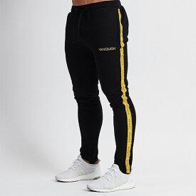 UK発 VANQUISH FITNESS(ヴァンキッシュフィットネス) イエローサイドスウェットパンツ スキニー メンズ スキニー ジョガー 大きいサイズ インポート ヴァンキッシュ vanquish fitness ヴァンキッシュフィットネス スポーツウェア ジムウェア 小さいサイズあり 高身長
