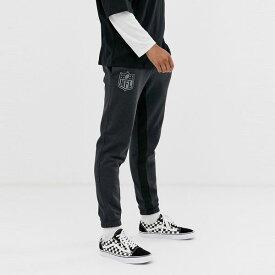 New Era ニューエラ asos ASOS エイソス メンズ New Era ブラック NFL 色調 ジョガー 大きいサイズ インポート エクストリームスーパースキニーフィット スウェットパンツ ジーンズ ジーパン 20代 30代 40代 ファッション コーディネート