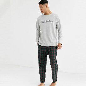 Calvin Klein カルバンクライン asos ASOS エイソス メンズ Calvin Klein ロング スリーブ トップ ズボン パジャマ セット 大きいサイズ インポート エクストリームスーパースキニーフィット スウェットパンツ ジーンズ ジーパン 20代 30代 40代 ファッション コーディネート