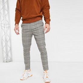 ASOSセレクト Mennace asos ASOS エイソス メンズ Mennace チェック テーパ ズボン 大きいサイズ インポート エクストリームスーパースキニーフィット スウェットパンツ ジーンズ ジーパン 20代 30代 40代 ファッション コーディネート