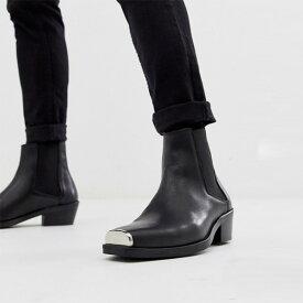 asos ASOS エイソス 本革 チェルシーブーツシューズトレンド シューズ メンズ 靴 20代 30代 40代 ファッション コーディネート アウトフィット アウトドアー オシャレ 大人 カジュアル 小さいサイズあり