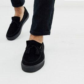 asos ASOS エイソス ブラックフェイクスエード トレンド シューズ メンズ 靴 20代 30代 40代 ファッション コーディネート アウトフィット アウトドアー オシャレ 大人 カジュアル 小さいサイズあり
